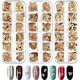 EBANKU 3 Doos Nail Art Studs Een Verscheidenheid Aan Stijlen Nagels Pailletten Stickers Legering Nail Decals Voor Manicure Na