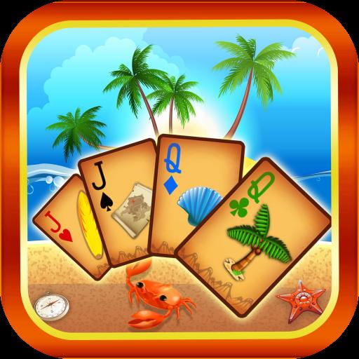 Beach Island Tri Peaks Pyramid Solitaire (Decks Card Fun Playing)
