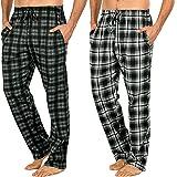 Men's Long Lounge Wear Pants Nightwear (Two Pack) Pyjama Bottoms Sleepwear