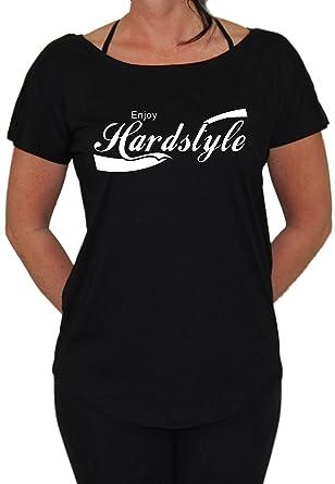 Enjoy Hardstyle Loose Fit Girlie (S, Schwarz)