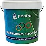 Pintura pistas deportivas PECTRO 5KG Pintura para pavimentos instalaciones deportivas en colores verde rojo gris blanco (Gris