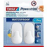 tesa Powerstrips Waterproof Hooks L plastic white