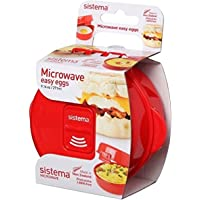 Sistema Microwave Egg Cooker Easy Eggs, 271 ml - Red