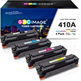 GPC Image Compatible Toner Cartridge replacement for HP 410A CF410A CF411A CF412A CF413A to use with Color LaserJet Pro MFP M