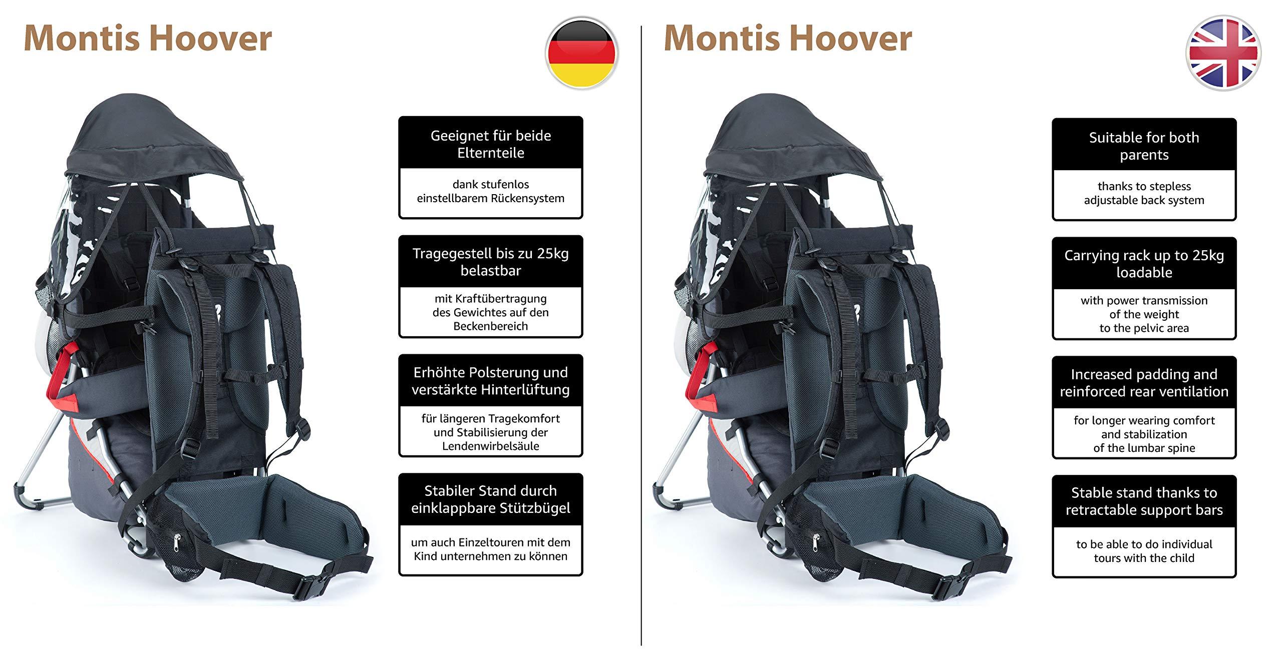 81JKQQqcokL - Montis Hoover - Mochila portabebés (carga máxima de 25 kg)