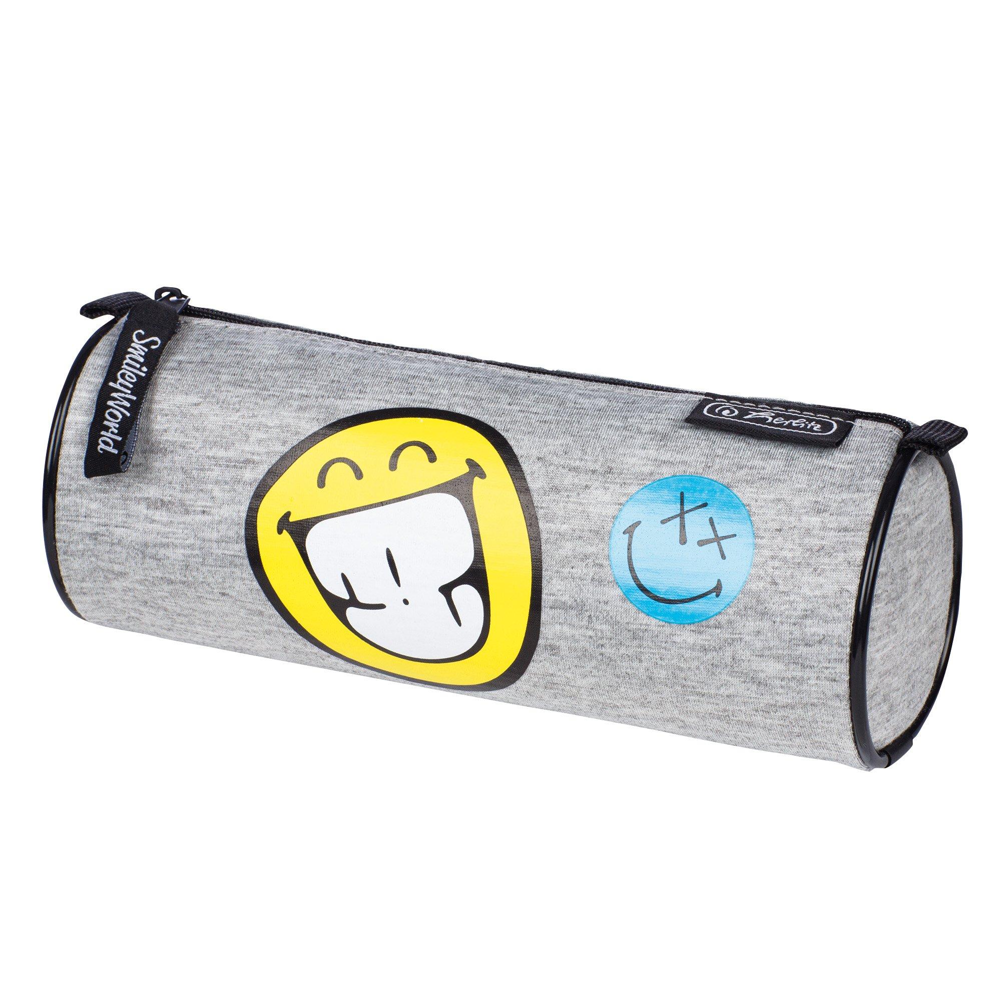 Herlitz 11412707 - Astuccio portapenne, motivo smiley