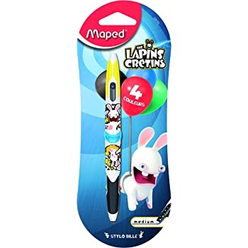 Maped Twin Tip Les Lapins Cretins 229160 Stylo 4 Couleurs Amazon Fr