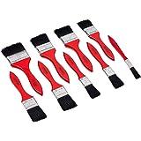Werkzeyt Borstelset 9-delig - voor op water gebaseerde kleuren & lak - bestaande uit platte kwast met 13 - 63 mm breedte - zw