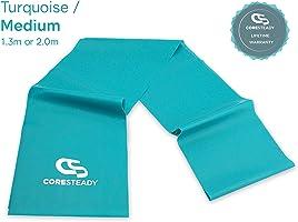 Coresteady Fasce di Resistenza Terapeutiche | Bande Fitness di Alta qualità per Pilates, Yoga, Allenamento di Forza,...