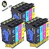 Abcs Printing 29XL Compatibile per Cartucce Epson 29XL 29 Epson Expression Home XP-235/XP-245/XP-247/XP-332/XP-335/XP-342/XP-345/XP-432/XP-435/XP-442/XP-445 (3 Nero, 3 Ciano, 3 Magenta, 3 Giallo)