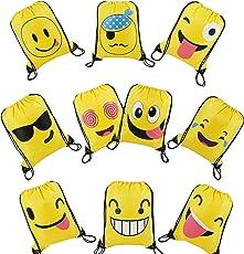 Emoji Partyzubehör Mitgebsel Kindergeburtstag Geschenktüte Für Kinder Turnbeutel 10 Stück (Emoji Partytüten)