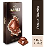 Fabelle Exquisite Chocolates - Tiramishu Inspired Centre Filled Bars, 2 x 131 g
