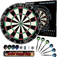 Seydrey Dartscheibe Kork Dartscheibe mit Pfeilen Offizielles Steeldartscheibe Dartscheibe Steeldart Dartscheibe Set 6…