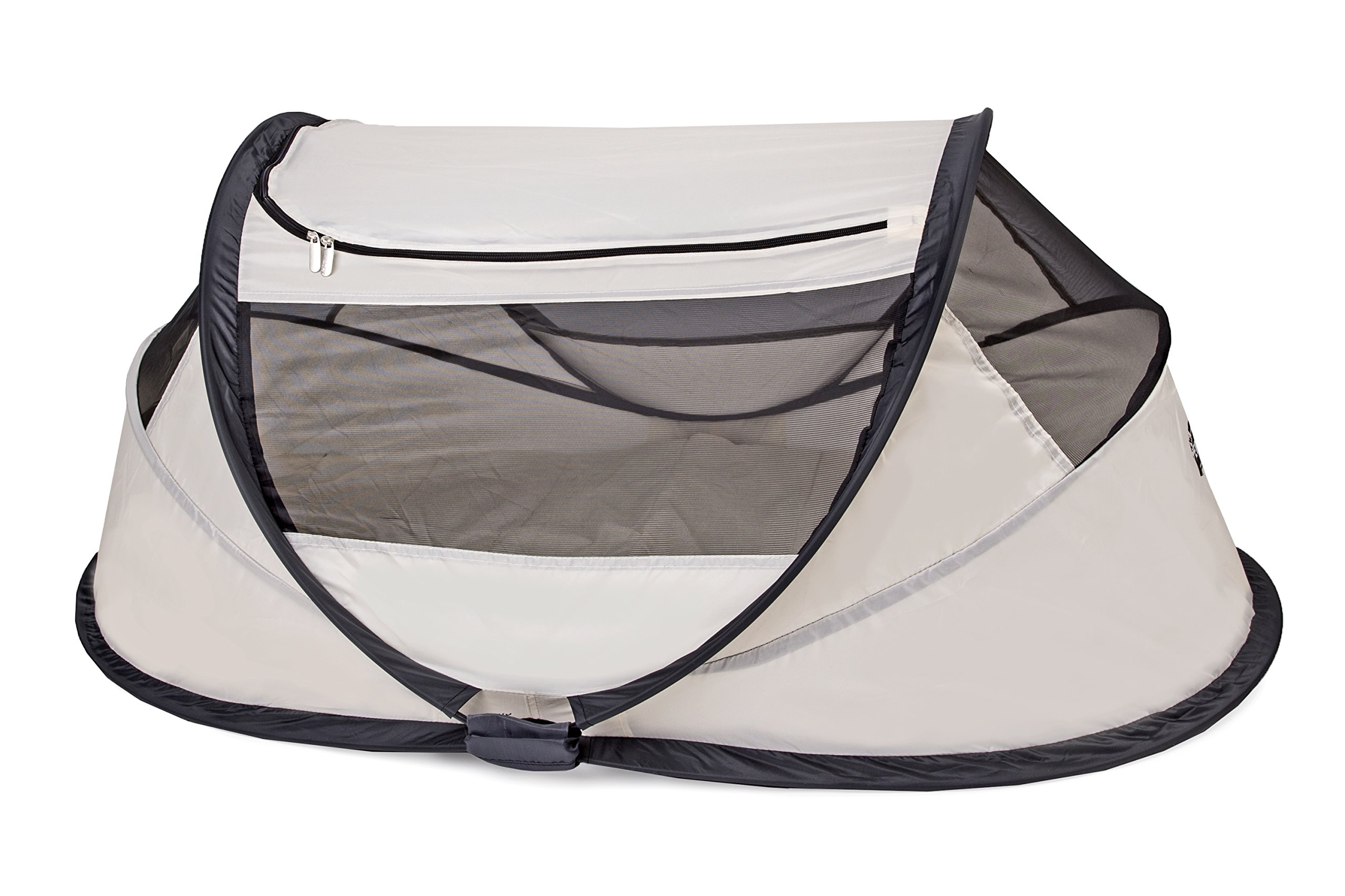 Travel Cot Babybox (Khaki) Deryan 50% UV Protection and flame retardant fabric Setup in 2 seconds and a anti-musquito net  1