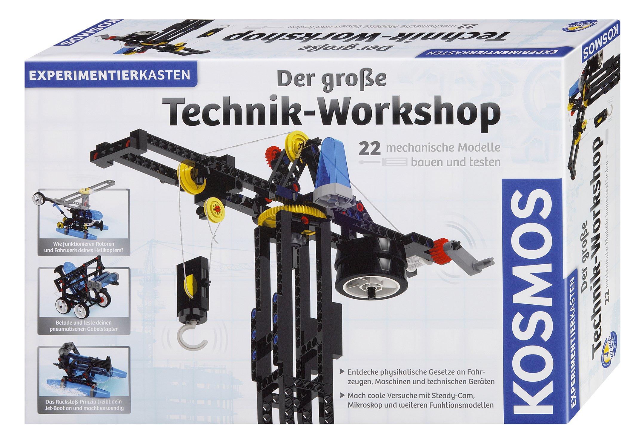 Lernspiel Kosmos 628154 Der Große Technik Workshop 22 Mechanische Modelle Bauen Und Testen Experimentierkasten Für Kinder