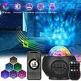 AMBOTHER Projecteur Ciel Etoile Lampe Projecteur LED Musicale avec Haut-Parleur Bluetooth Minuterie Télécommande Luminosité R