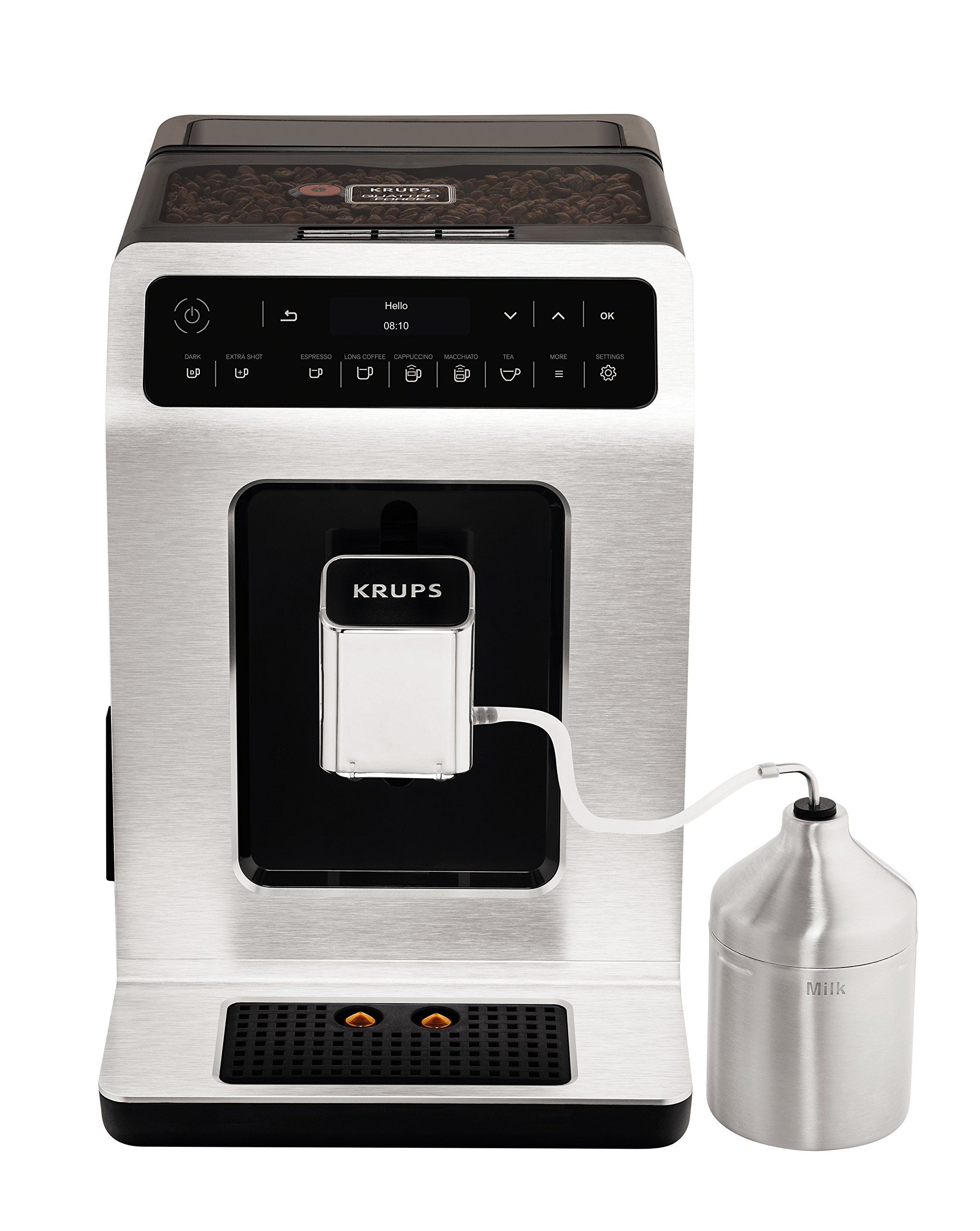 Krups EA891D Evidence Kaffeevollautomat (OLED-Display) metall