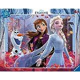 Ravensburger- Puzzle Cadre 30-48 pièces La Magie de la Nature La Reine des Neiges 2 Enfant, 4005556050741
