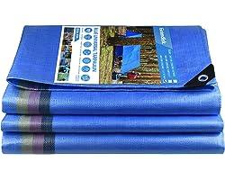 Bâche de Protection Bâche de Recouvrement Bâches de Couverture PE avec œillets Imperméable et Résistante Anti UV pour Home&Ga