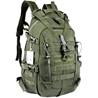 LHI Military Backpack Laptop backpack Army Heavy Duty Molle Tactical Backpack for Hiking, Cycling, Camping, Fishi…