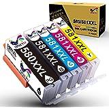 ONLYU PGI-580XXL CLI-581XXL Cartucce di inchiostro compatibili per Canon PIXMA TS6150 TS6151 TS6250 TS6251 TS8150 TS8151 TS82