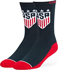 World Cup Soccer United States Women's OTS Anthem Sport Sock, Navy, Large