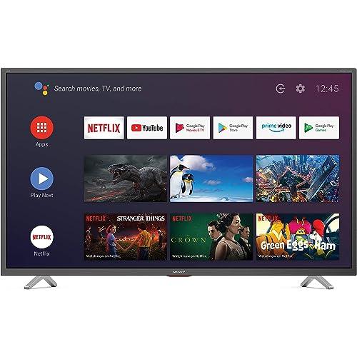 "Sharp Aquos 40BN6E - 40"" Smart TV 4K Ultra HD Dolby ATMOS Android 9.0, Wi-Fi, DVB-T2/S2, 3840 x 2160 Pixels, Nero, suono Harman Kardon, 4xHDMI 3xUSB, 2020"