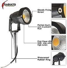 Radiato LED Garden Light 5W IP65 Waterproof, Spike Stand for Garden, Yard, Pathways, Lawn, Driveway Decorative Lighting