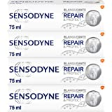 Sensodyne Repair & Protect Blanqueante - Pasta de Dientes con Flúor y Novamin que Alivia la Sensibilidad Dental y Ayuda a Eli