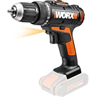 WORX WX166.9 Akku-Bohrschrauber – 20V Profi Werkzeug zum Bohren und Schrauben – PowerShare kompatibel – Wird ohne Akku…