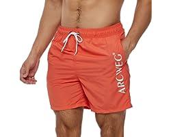 Arcweg Men's Swim Trunks Quick Dry Beach Shorts Mens Board Shorts Surfing Stretchy Adjustable Drawstring Breathable Swimming