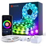 Teckin LED Strip Lights 5m, Smart WiFi led Strip Waterproof APP Control RGB Colour Changing Music Sync Strips Lights for…