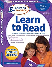 Hooked on Phonics Learn to Read - Level 4: Emergent Readers (Kindergarten - Ages 4-6)