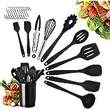 Yuning Ustensiles de Cuisine,21pcs Set spatule en Silicone de qualité Alimentaire,résistant à la Chaleur Outils de Cuisson an