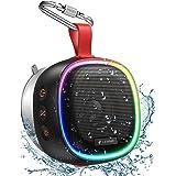 Bluetooth Speaker with RGB Lights, LENRUE IPX7 Waterproof Portable Shower Speaker w/HD Sound, TWS Pairing, Bass, 20H Playtime