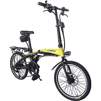 Helliot Bikes by 01 Bicicleta Eléctrica Plegable, Adultos Unisex, Amarillo/Negro, M-L