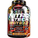 Muscletech Performance Series Nitrotech Whey Gold (Whey Protein Peptides & Isolate, 24g Protein, 5.5g BCAAs, 4g Glutamine, Gluten Free, Post-Workout) – 5.5lbs, 2.49kg (Dulce De Leche)