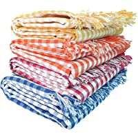 Mesh Masters Handloom 100% Pure Cotton Towels 1 Year Guarantee XXXL 36inches/72inches(3 feet/6feet) 90cms/180cms (Pack:4…
