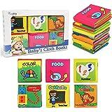 NEWSTYLE Libri di Stoffa per Neonati,Libro Stoffa Baby Senses Libro Cognition Libri Tessuto Libro Bambino in Tessuto da 6 Pez