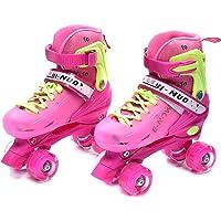 IRIS Roller Skates for Kids, PP and PVC Wheel with LED Lights Adjustable Double Row Skate Rollerblades for Beginners/Children/Boys/Girls