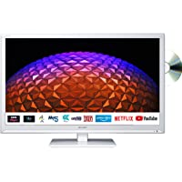Sharp 1T-C24BE0KR1FW (24BE0KW) 24 Inch HD Ready LED Smart TV with Freeview Play, Built-in…