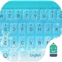 Blue Christmas Theme&Emoji Keyboard