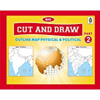 CUT AND DRAW BIG BOOK OF OUTLINE PRACTICE MAPS (100 ASSORTED MAPS) CONTAINS INDIA, WORLD AND CONTINENTS (English)