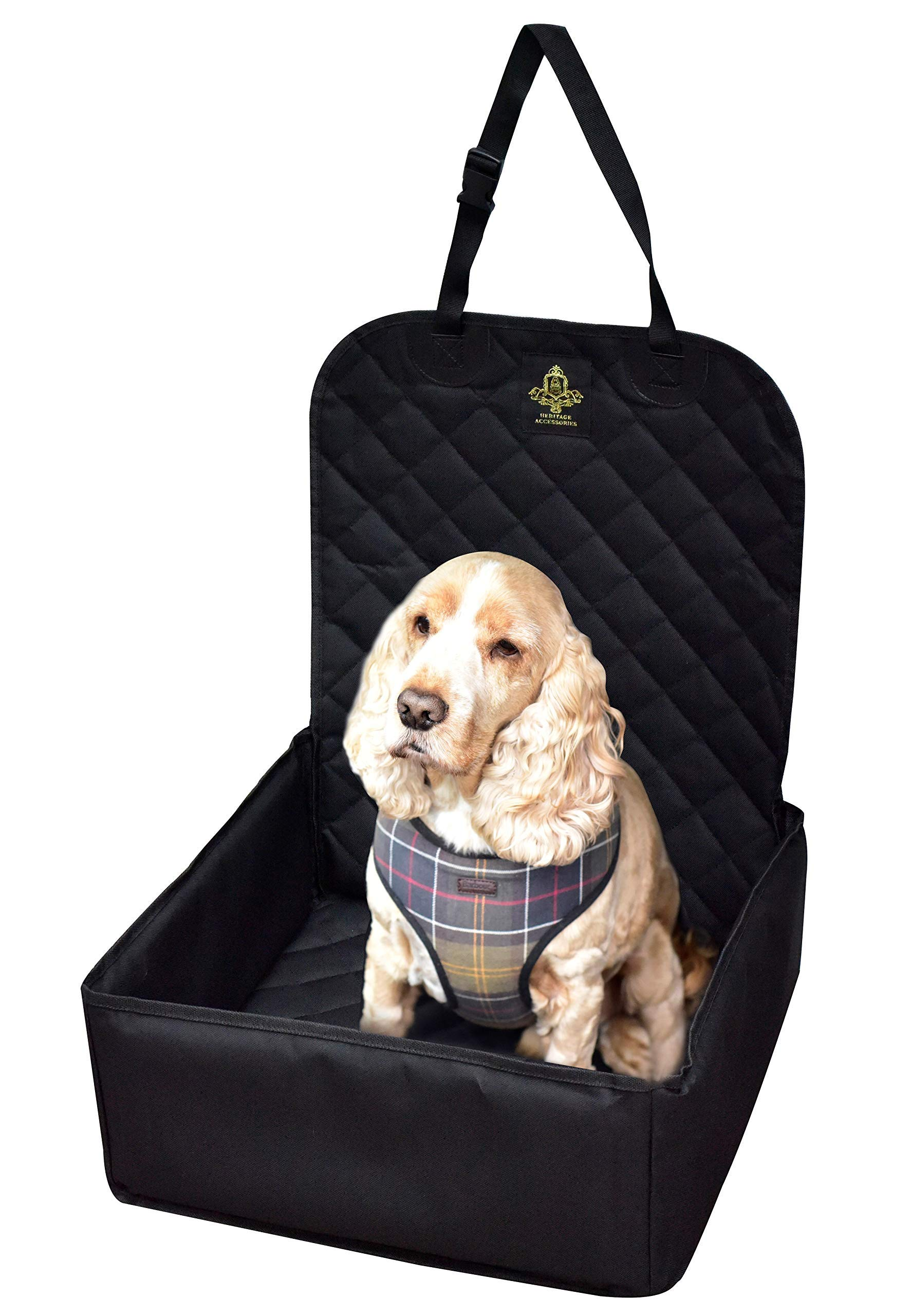Dog Car Seat with Safety Harness Seat Belt – Pet Waterproof Travel Dog Car Seat Protector Cover Car Accessories