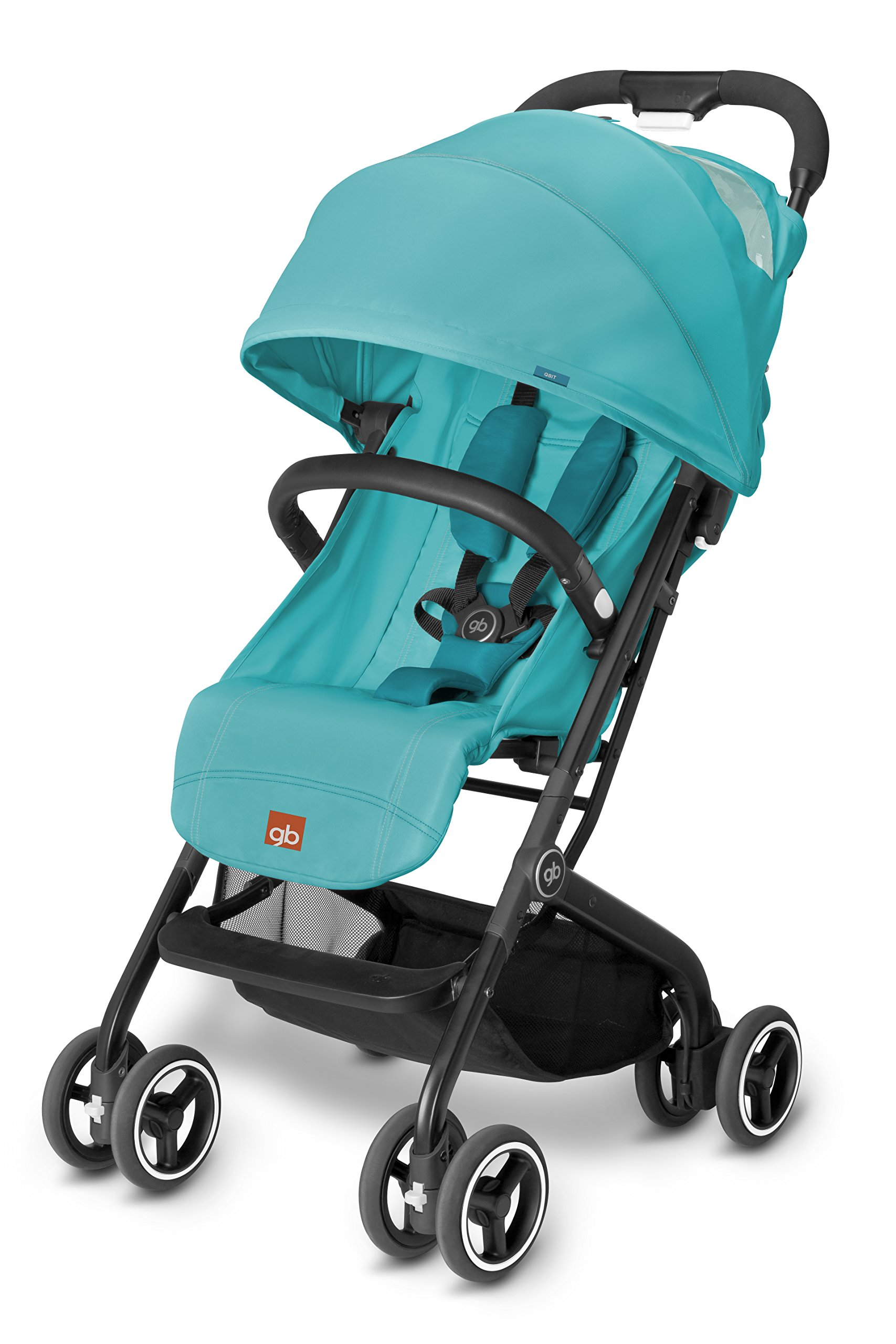 GB Qbit, Strollers, Capri Blue - Turquoise GB The innovative fold technique can be operated using only one hand and transforms the qbit into a Compact and free-standing package Big little buggy - spacious and comfortable for kids, Compact, light and easy to carry for parents Travel system - with the adapters (optional available) you can attach a GB or CYBEX infant car seat onto the frame 1