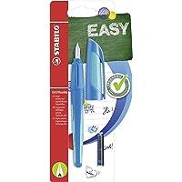 Penna Stilografica Ergonomica per bambini - STABILO EASYbuddy in Blu/Azzurro - Punta Principiante - 2 Cartucce Blu…