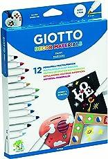 Giotto 453400 - Giotti Decor Materials Pennarelli Multisuperficie in Astuccio da 12 Colori