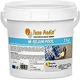 M-REJUN POOL de Tecno Prodist - (1 kg) Mortero flexible para sellado de juntas de baldosas y gresite en piscinas, ceramica, l