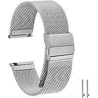 EONPOW Cinturino per Orologio Donna Uomo Cinturino in Acciaio Inossidabile 18mm,20mm,22mm