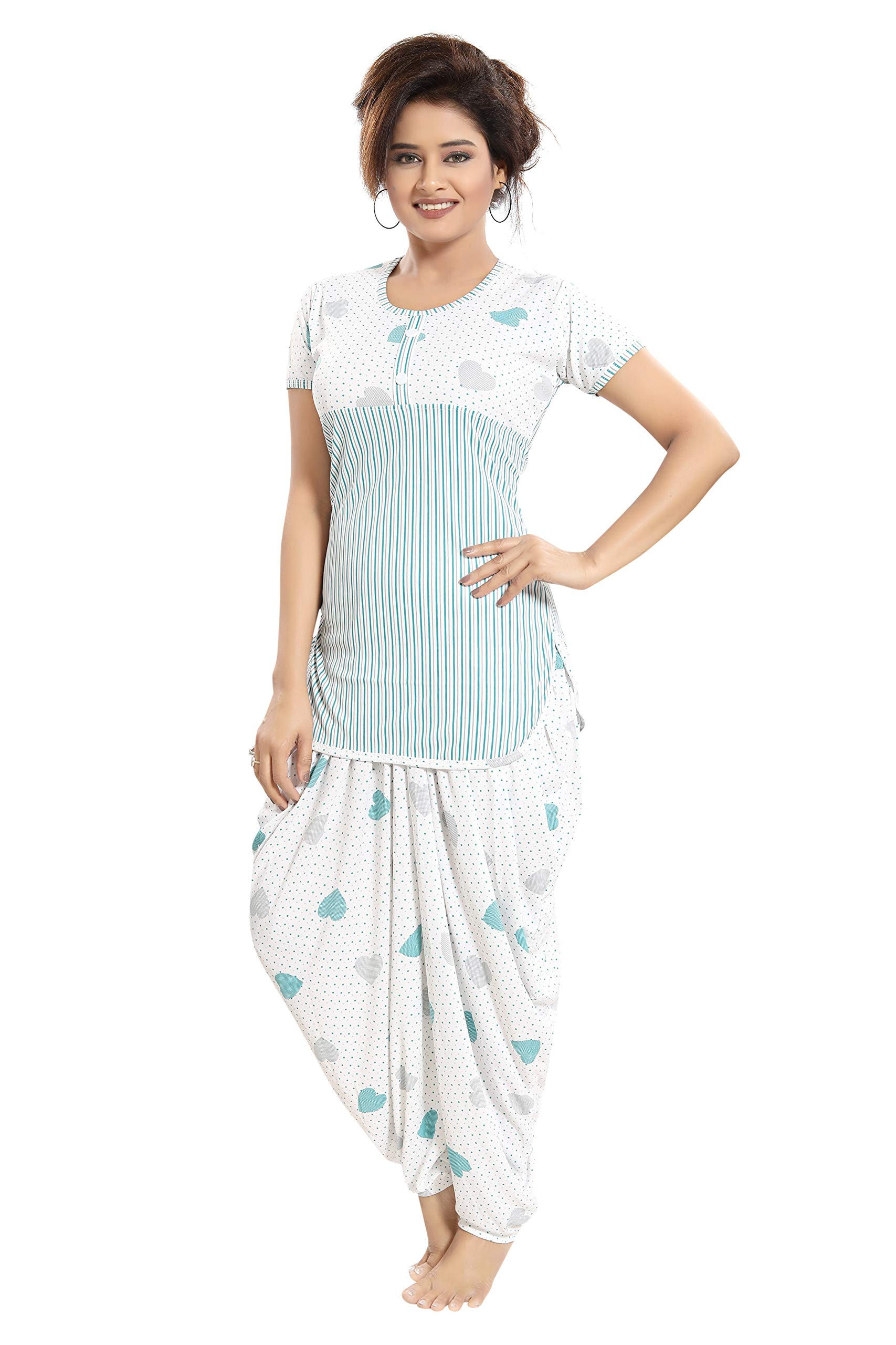 81b523c3d TUCUTE Top and Dhoti Style Bottom Night Suit Nighty Nightdress Night ...